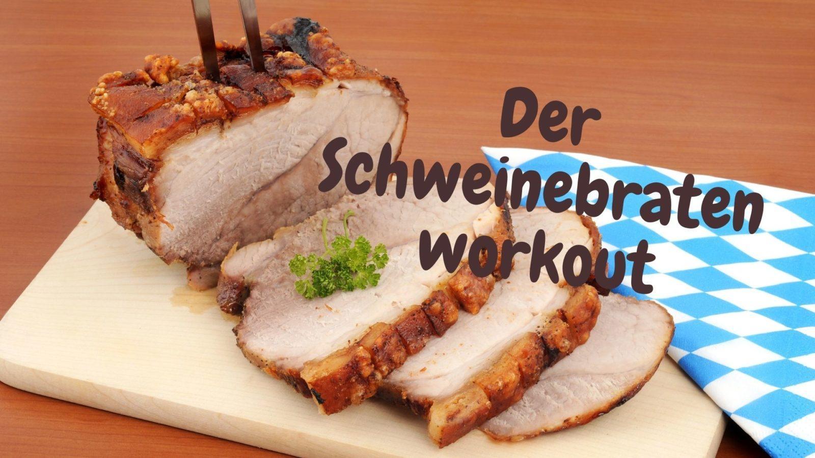 Fit in Schlips und Pumps goes homeoffice: Der Schweinebraten-Work-out